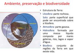Ambiente, preservação e biodiversidade