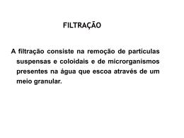Cap 16 – Filtração
