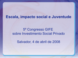 Alice Damasceno - 8º Congresso GIFE