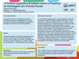 A Política Legislativa Brasileira sobre a Presença do Estrangeiro em
