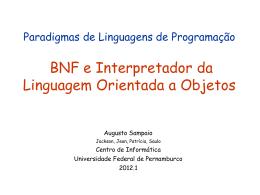 Linguagem Imperativa 1 - Centro de Informática da UFPE