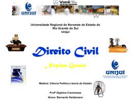 Direito Civil - noções gerais