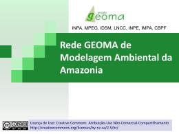 Rede GEOMA de Modelagem Ambiental da Amazônia - DPI