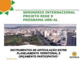 seminário internacional projeto rede 9 programa urb