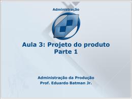 Projeto do produto