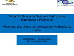 Caracterização dos óbitos por leptospirose