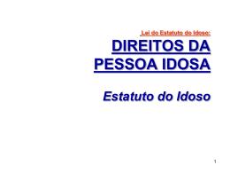 ESTATUTO DO IDOSO - Universidade Castelo Branco