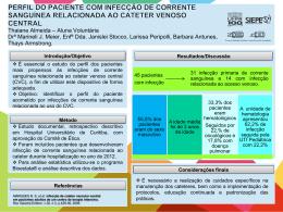 CATETERES VENOSOS CENTRAIS ASSOCIADOS À INFECÇÃO