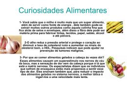 Curiosidades Alimentares - prof-nair