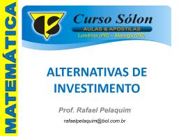 alternativas de investimentos