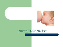 nutrição e saúde - Universidade Castelo Branco