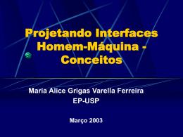 Projetando Interfaces Homem-máquina - Conceitos