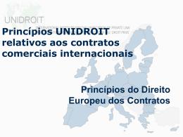 Princípios UNIDROIT relativos aos contratos comerciais