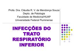 infecções do trato respiratório inferior