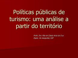 Políticas Públicas e Turismo
