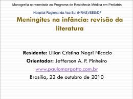 Meningites na infância: revisão da literatura