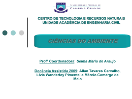 CIÊNCIAS DO AMBIENTE - Área de Engenharia de Recursos Hídricos