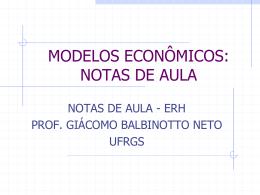 modelos econômicos - Programa de Pós