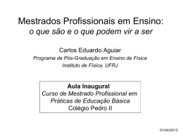ppt - Instituto de Física / UFRJ