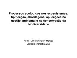 Processos ecológicos nos ecossistemas