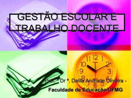 Gestão Escolar e Trabalho docente