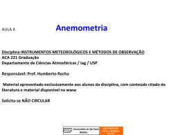 Aula_Anemometria_2015 - Departamento de Ciências