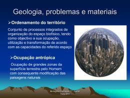 Ocupação antrópica e problemas de ordenamento Bacias