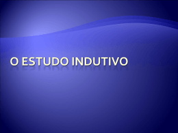 O ESTUDO INDUTIVO