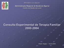 apresentação 2 - Unidade de Terapia Familiar