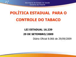 Diapositivo 1 - Secretaria da Saúde