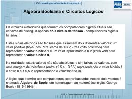 Aula 1: Álgebra booleana