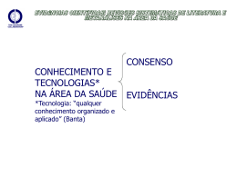 Slides – Revisão Sistemática de Literatura