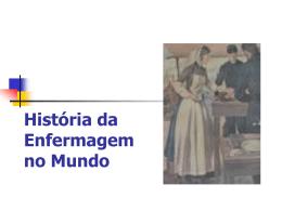 História da Enfermagem no Mundo Período Pré