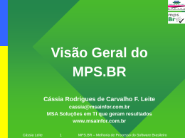 Projeto mps Br – Melhoria de Processo do Software Brasileiro