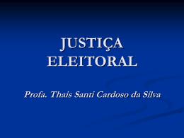 juiz eleitoral
