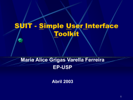 Noções sobre SUIT: Simple User Interface Toolkit