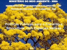 Políticas Públicas para o Fomento à Silvicultura com Espécies Nativas