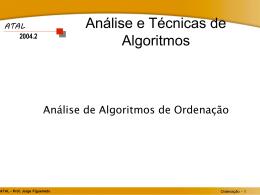 Análise e Técnicas de Algoritmos