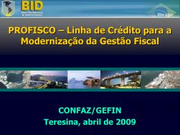 Linha de Crédito para a Modernização da Gestão Fiscal I