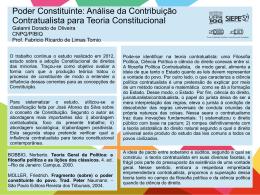 Poder Constituinte: Análise da Contribuição Contratualista
