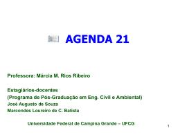 Agenda 21 - Área de Engenharia de Recursos Hídricos