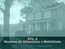 STC_6 Modelos de Urbanismo e Mobilidade
