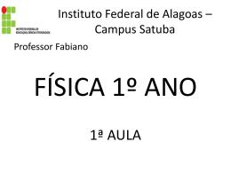 1ª aula. - Física Federal