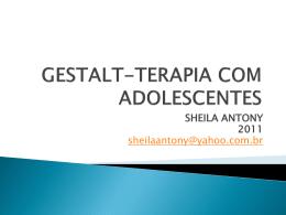 GESTALT-TERAPIA DA ADOLESCENCIA
