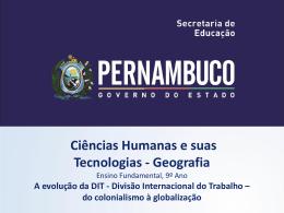 A evolução da DIT - Governo do Estado de Pernambuco