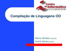 Compilação de Linguagens OO