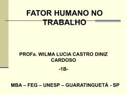 MBA - FEG - UNESP