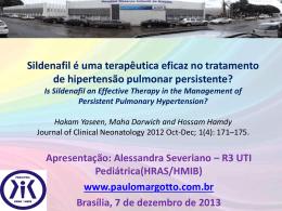 Sildenafil é uma terapêutica eficaz no tratamento de hipertensão