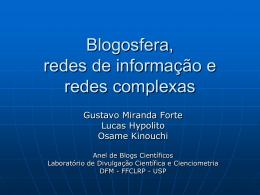 A Blogosfera como rede complexa