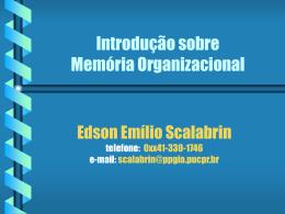 Introdução a momória organizacional - PPGIa